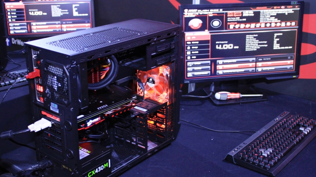 Assembled PC at the MSI Gaming PC Workshop